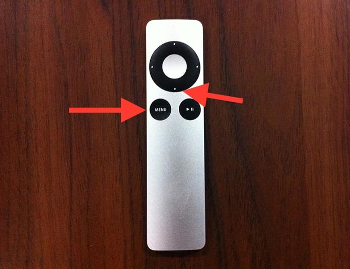 Reiniciando uma Apple TV através do controle remoto (Foto: Reprodução/Marvin Costa)