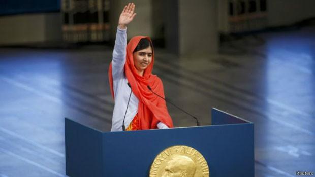 Malala ganhou fama mundial ao defender educação de meninas  (Foto: Reuters)