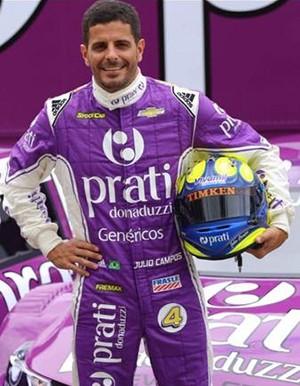 O piloto Julio Campos, inicia caça ao título neste fim de semana em Goiânia, correndo pela equipe Prati-Donaduzzi (Foto: Divulgação)