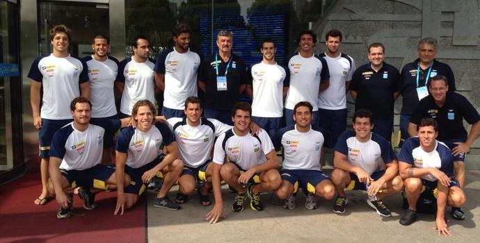 Seleção brasileira de polo aquático (Foto: Divulgação/CBDA)