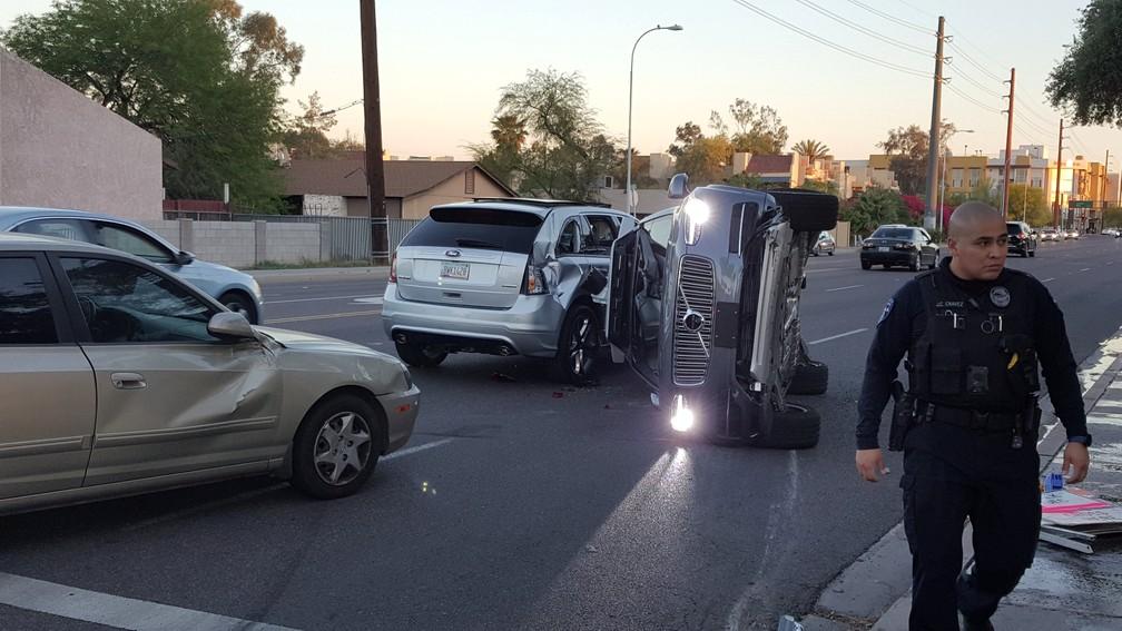 Uber suspendeu testes com carros que dispensam o motorista após acidente (Foto: Courtesy FRESCO NEWS/Mark Beach/Handout via REUTERS)