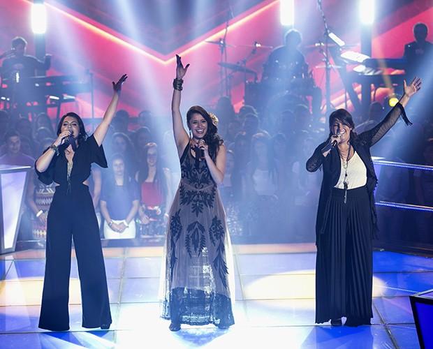 O trio dá um show  (Foto: Isabella Pinheiro/Gshow)