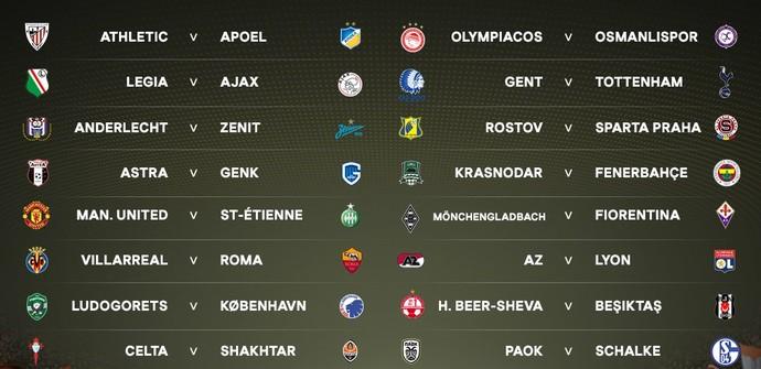 Sorteio da Liga Europa (Foto: Reprodução / Twitter / Uefa)