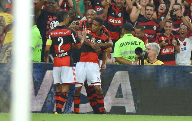 comemoração do Flamengo contra o América-RN (Foto: André Durão)