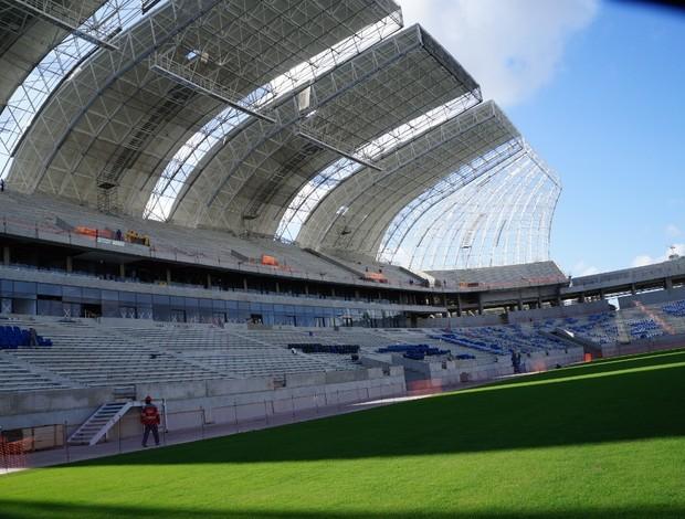 Arena das Dunas, em Natal, atinge 90,75% de conclusão (Foto: Augusto Gomes)