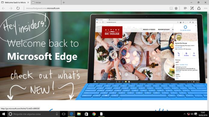 Microsoft Edge ganhou suporte a extensões no Windows 10 Preview (Foto: Reprodução/Elson de Souza)