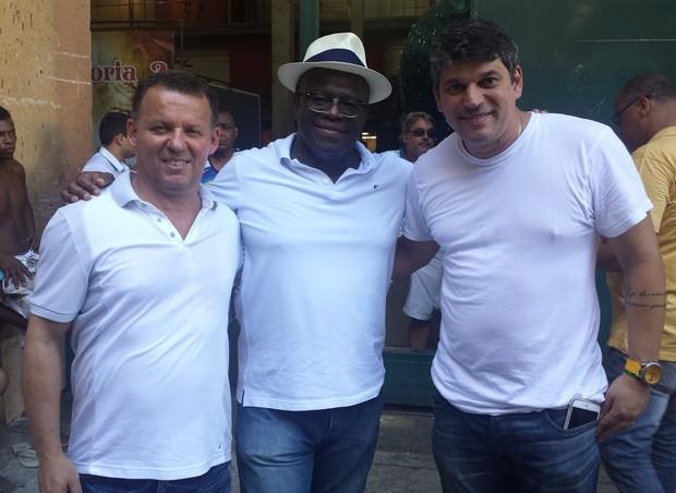 Rubem Viana, Joaquim Barbosa e Gustavo Clarão (Foto: Divulgação/Divulgação)