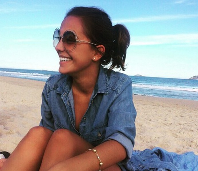Valentina Cohen esbajna estilo na praia (Foto: Arquivo Pessoal)