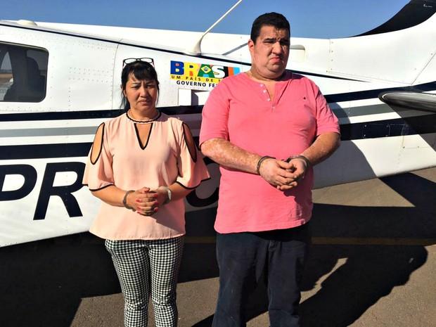 Casal foi preso em Goiás durante a Operação Castelo de Areia (Foto: Divulgação/Polícia Civil de Mato Grosso)
