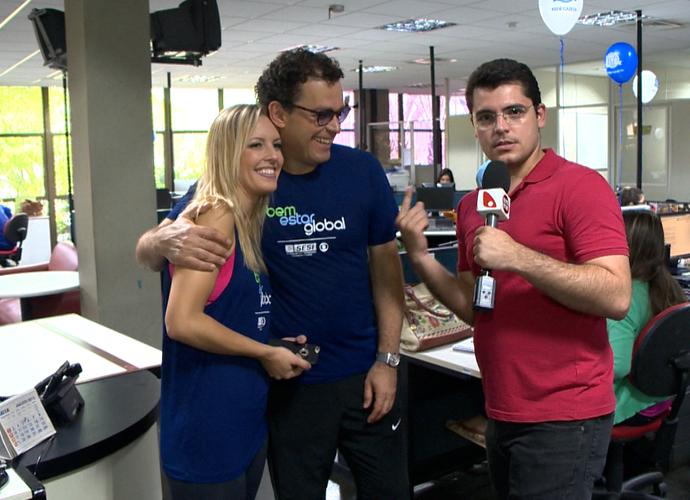 Fernando e Juliana falam sobre novidades na Dança dos Famosos (Foto: Divulgação/TV Gazeta)
