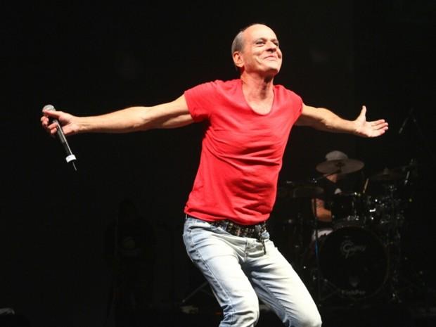 Ney Matogrosso em show na Zona Portuária do Rio (Foto: Anderson Borde/ Ag. News)