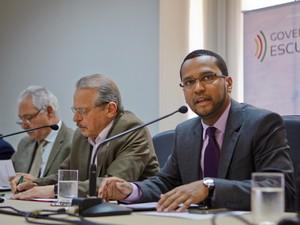 Secretário-Geral de Governo, Vinicius Wu, divulgou dados da pesquisa da FGV (Foto: Alina Souza/Palácio Piratini)