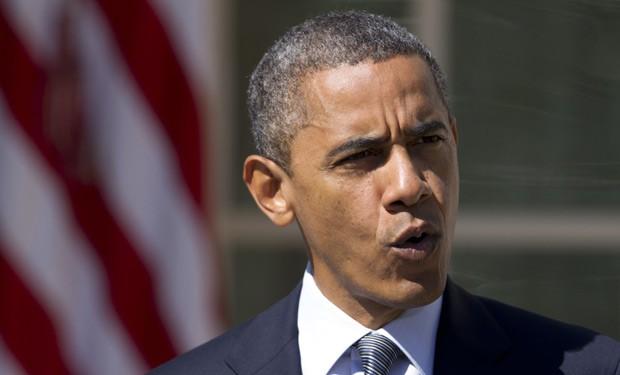 O presidente dos EUA, Barack Obama, faz pronunciamento sobre a morte de diplomatas americanos na Líbia nesta quarta-feira (12) na Casa Branca (Foto: AP)