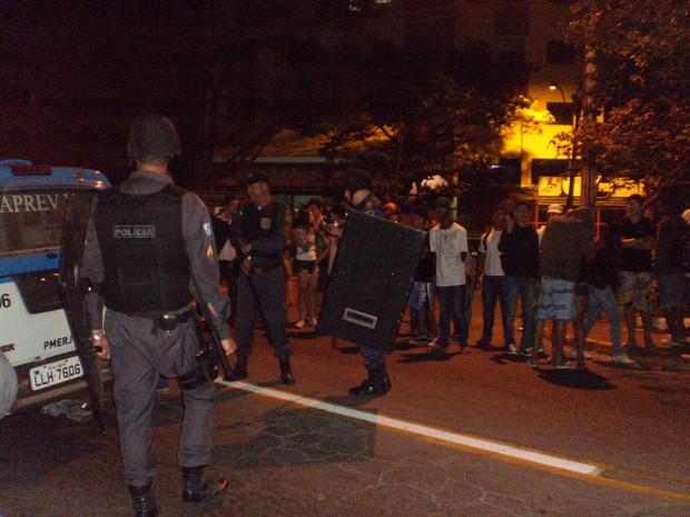 Manifestação em Resende, RJ (Foto: Glauciara Loureiro)