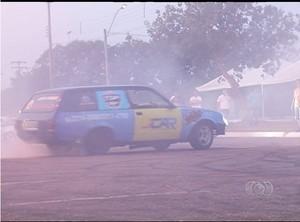 Pilotos se preparam para primeiro Show Car em Palmas (TO)  (Foto: Reprodução/TV Anhanguera)