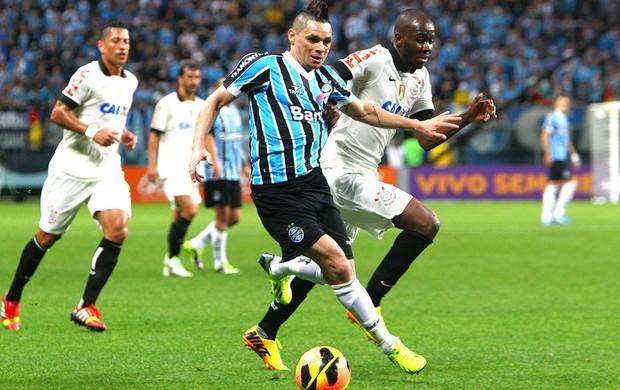 Para Grêmio e Corinthians (Foto: Lucas Uebel / Grêmio FBPA)