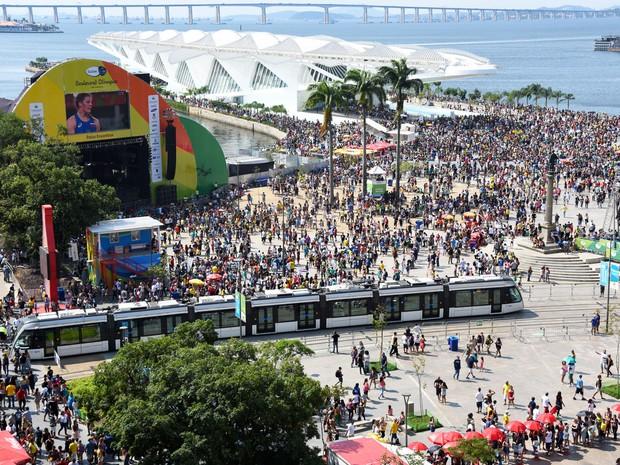 Boulevard Olímpico na Região Portuária durante os Jogos Olímpicos em agosto (Foto: Alexandre Macieira/Riotur)