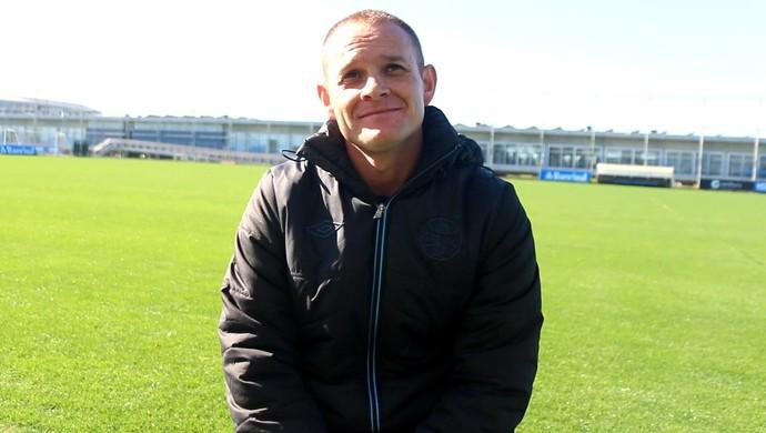 Rogério Dias Rogerinho Preparador físico Grêmio (Foto: Eduardo Moura/Globoesporte.com)