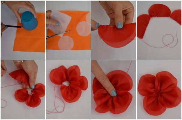 photos   decora o flores de tecido tic tac com flor de tecido e feltro