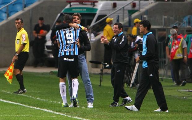 Barcos marca na vitória contra Corinthians (Foto: Lucas Uebel / Grêmio, DVG)