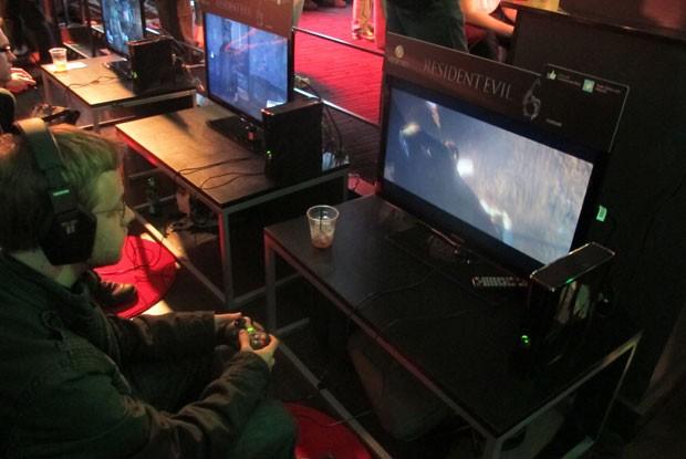 Microsoft realizou evento na noite de segunda-feira (4) em Los Angeles para apresentar novos games, como 'Resident Evil 6' (Foto: Gustavo Petró/G1)