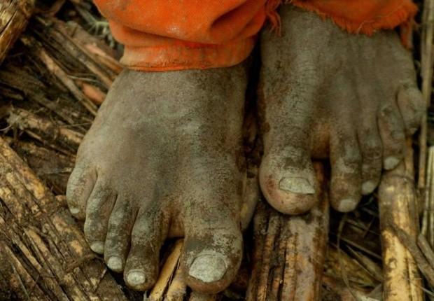 Trabalho escravo (Foto: Marco Antônio Teixeira/Agência O Globo)