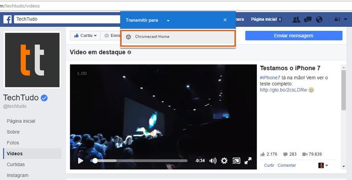 Transmita o vídeo do Facebook para a TV usando seu Chromecast (Foto: Reprodução/Barbara Mannara)