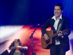 Cantor Daniel faz apresentação na Festa do Peão de Barretos, neste sábado (19) (Foto: Flávio Moraes/G1)