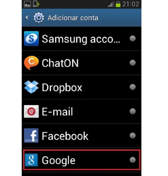 Adicione uma conta do Google ao celular (Reprodução/Taysa Coelho)
