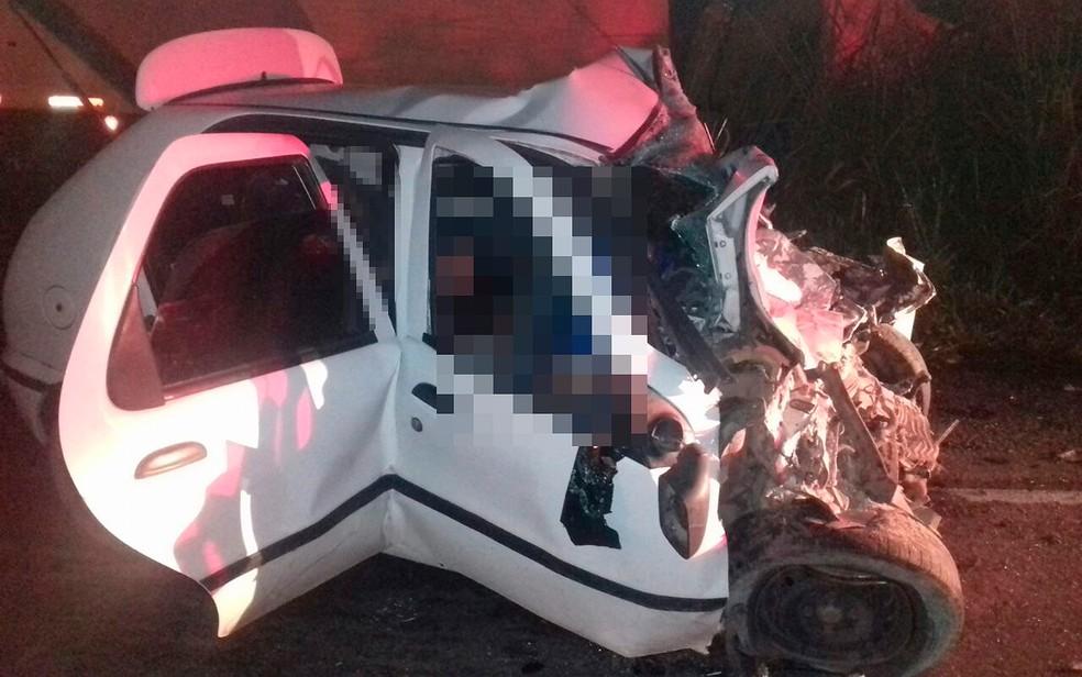 Acidente na BR-101 deixou oito mortos e um ferido, na Bahia (Foto: PRF/ Divulgação)