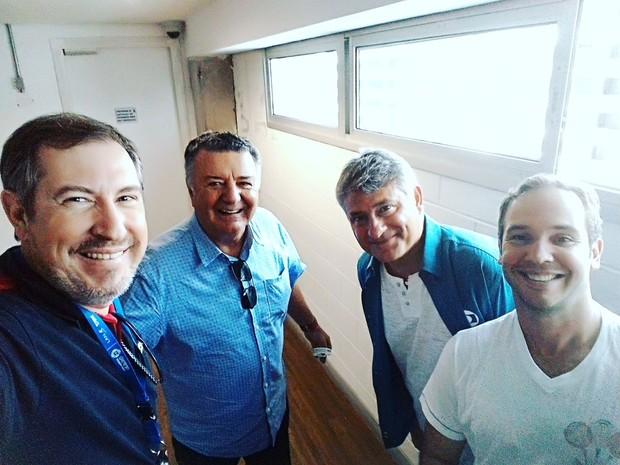 Rafael Henzel e Arnaldo Cézar Coelho, superintendente da TV Rio Sul (Foto: Reprodução/Facebook)