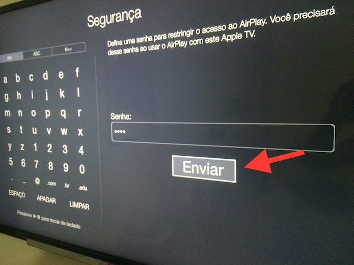 Configurando uma senha para o AirPlay da Apple TV (Foto: Reprodução/Marvin Costa)