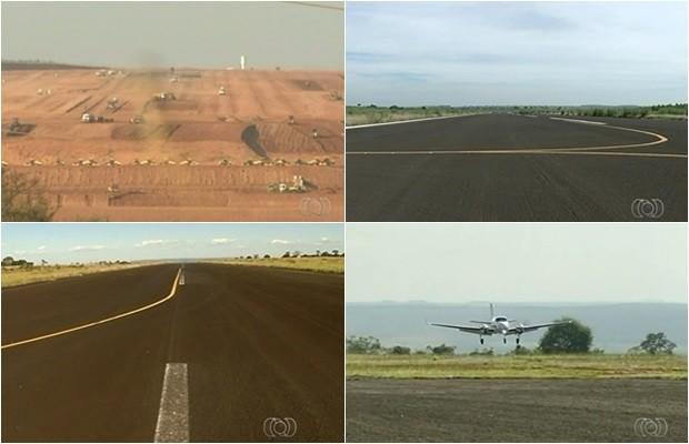 Aeroportos de Anápolis, Catalão, Itumbiara e Jataí têm pouca infraestrutura (Foto: Reprodução/TV Anhanguera)