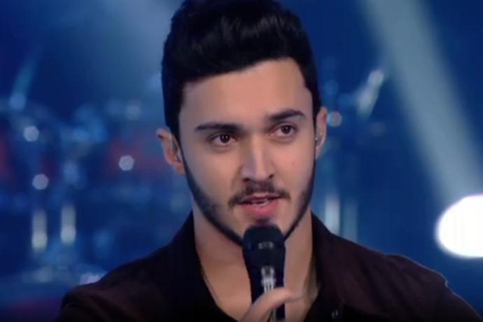 Luiz Otávio Reis foi eliminado do The Voice Brasil (Foto: Reprodução TV Globo)