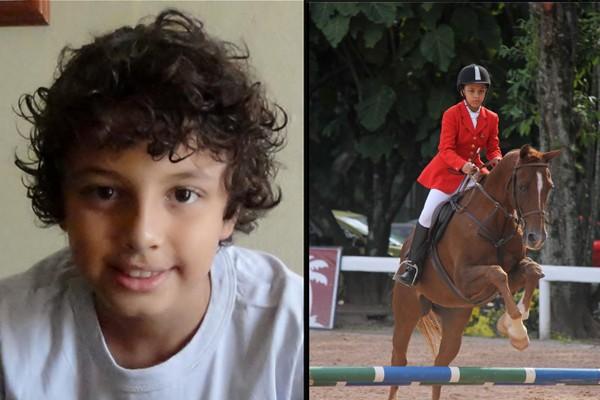 Arthur Arruda conquistou  o título na categoria preliminar individual do campeonato brasileiro de escolas de equitação (Foto: arquivo pessoal)