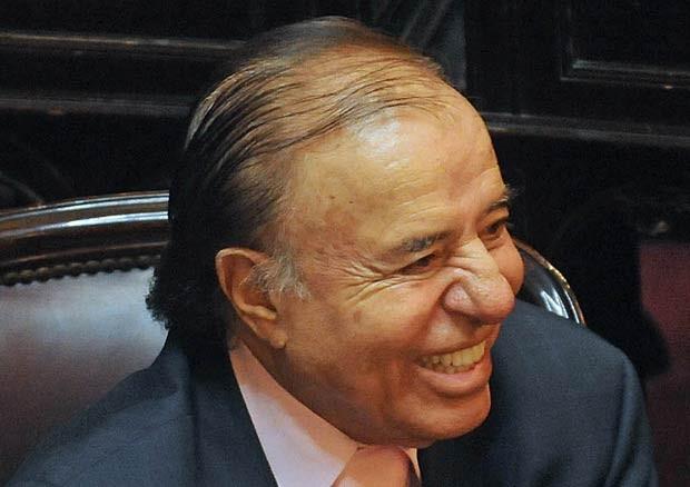 O ex-presidente argentino Carlos Menem em 21 de dezembro de 2011 (Foto: AFP)