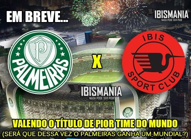 Ibis tira onda com o Palmeiras em rede social