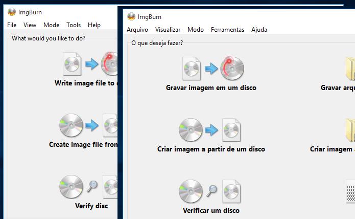 Descubra como deixa a interface do ImgBurn em português (Foto: Reprodução/Edivaldo Brito)