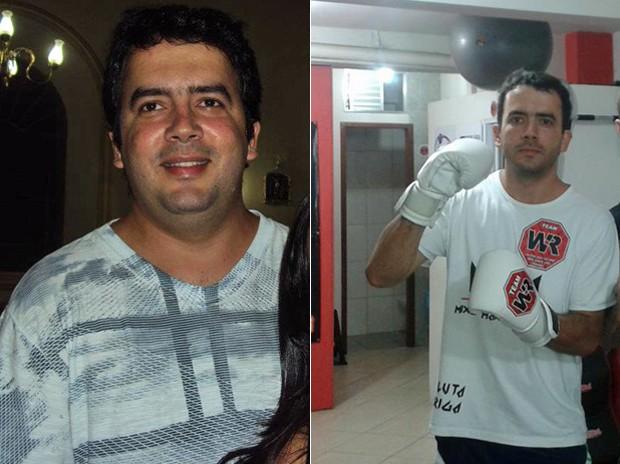 Rodrigo trocou a junkie food por alimentação saudável; fotos mostram o estudante antes e depois (Foto: Arquivo pessoal/Rodrigo de Almeida Silva)
