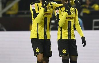 Hoffenheim e Borussia Dortmund goleiam e sobem no Alemão