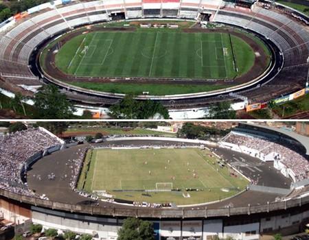 Estádios de Ribeirão Preto estão interditados (Foto: arte/globoesporte.com)