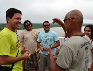 Rodrigo Terra (à esq.) idealizou Jogos de Aventura em Corumbá (Foto: Hélder Rafael)