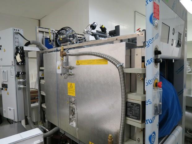 Equipamento de osmose reversa instalado no HC (Foto: Divulgação/ HC Unicamp)