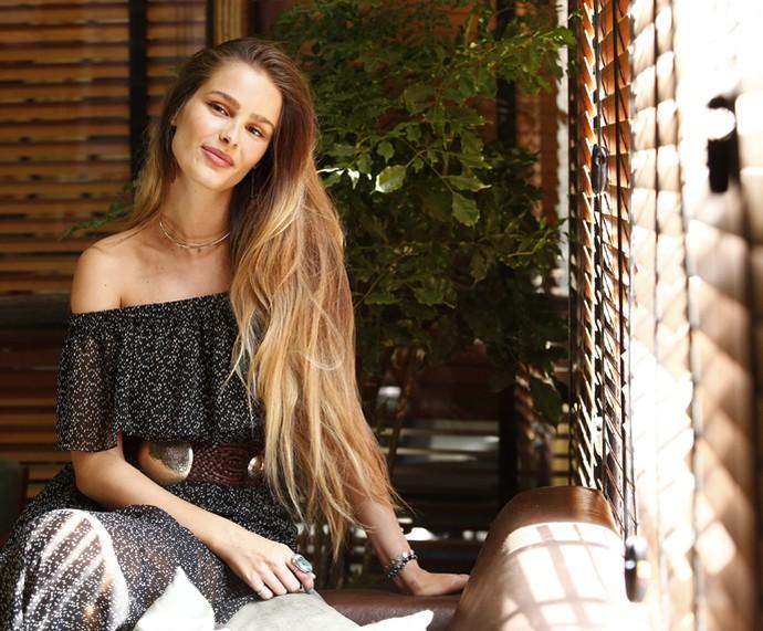 Yasmin Brunet fala sobre carreira de atriz e vegetarianismo em entrevista ao Gshow (Foto: Raphael Dias/Gshow)