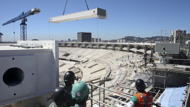 Obras no Maracan&#227; /  (Foto: Divulga&#231;&#227;o / Cons&#243;rcio Maracan&#227;)