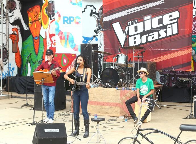 Adna Souza The Voice Brasil (Foto: Rubem Vital/ RPC)