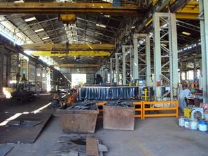A Viga Caldeiraria, no Vale do Aço, precisou demitir metade dos trabalhadores (Foto: Patrícia Belo/G1)