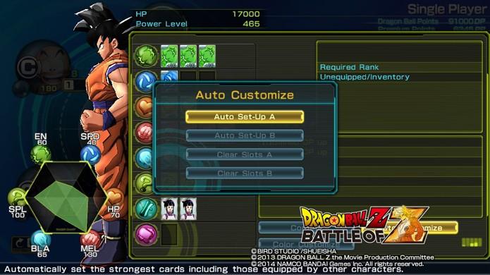 Personalização automática de lutadores ajuda a usar as cartas mais fortes automaticamente (Foto: Reprodução)