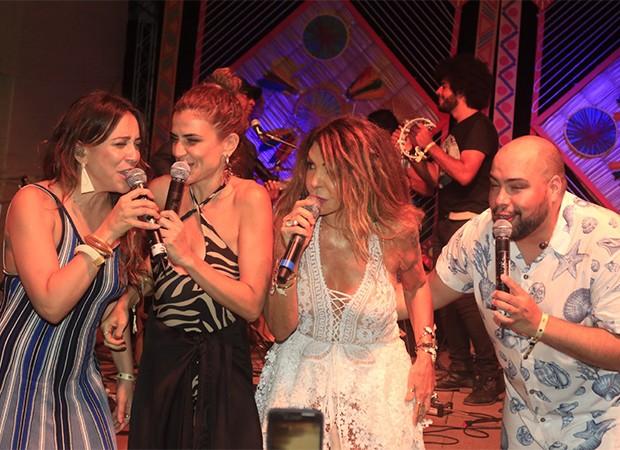 Roberta Sá, Marina Aydar, Elba Ramalho e Thiago Abravanel (Foto: Fred Pontes/ Divulgação)