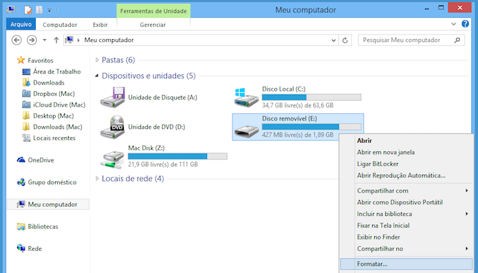 Acesse a pasta Meu computador no Windows Explorer (Foto: Reprodução/Helito Bijora)